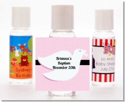 Dove Pink - Personalized Baptism / Christening Hand Sanitizers Favors