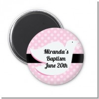 Dove Pink - Personalized Baptism / Christening Magnet Favors