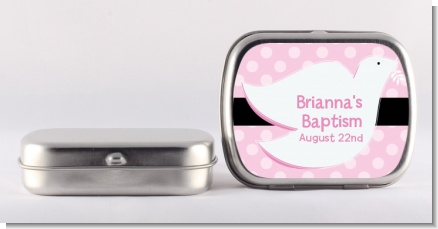 Dove Pink - Personalized Baptism / Christening Mint Tins