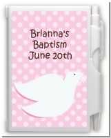 Dove Pink - Baptism / Christening Personalized Notebook Favor