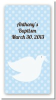 Dove Blue - Custom Rectangle Baptism / Christening Sticker/Labels
