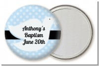 Dove Blue - Personalized Baptism / Christening Pocket Mirror Favors