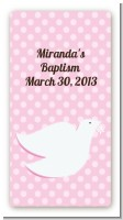 Dove Pink - Custom Rectangle Baptism / Christening Sticker/Labels