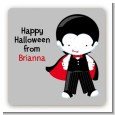 Dracula - Square Personalized Halloween Sticker Labels thumbnail