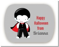 Dracula - Personalized Halloween Rounded Corner Stickers