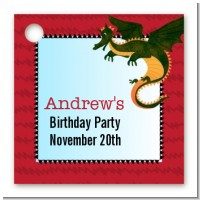 Dragon and Vikings - Personalized Birthday Party Card Stock Favor Tags