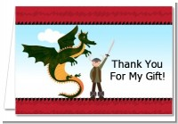 Dragon and Vikings - Birthday Party Thank You Cards