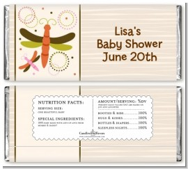 Dragonfly - Personalized Baby Shower Candy Bar Wrappers