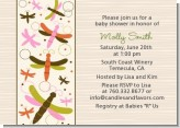 Dragonfly - Baby Shower Invitations
