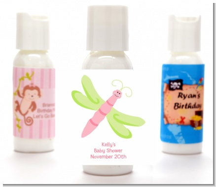 Dragonfly - Personalized Baby Shower Lotion Favors