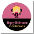 Dress Up Butterfly Costume - Round Personalized Halloween Sticker Labels thumbnail