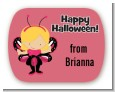 Dress Up Butterfly Costume - Personalized Halloween Rounded Corner Stickers thumbnail