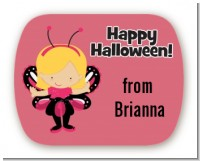 Dress Up Butterfly Costume - Personalized Halloween Rounded Corner Stickers
