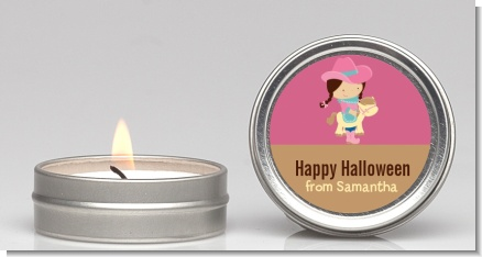 Dress Up Cowgirl Costume - Halloween Candle Favors