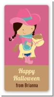 Dress Up Cowgirl Costume - Custom Rectangle Halloween Sticker/Labels