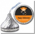 Dress Up Kitty Costume - Hershey Kiss Halloween Sticker Labels thumbnail