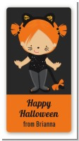 Dress Up Kitty Costume - Custom Rectangle Halloween Sticker/Labels
