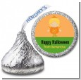 Dress Up Pumpkin Costume - Hershey Kiss Halloween Sticker Labels thumbnail