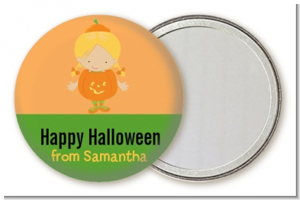 Dress Up Pumpkin Costume - Personalized Halloween Pocket Mirror Favors