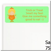 Dress Up Pumpkin Costume - Halloween Return Address Labels