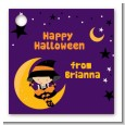 Dress Up Witch Costume - Personalized Halloween Card Stock Favor Tags thumbnail