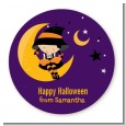 Dress Up Witch Costume - Round Personalized Halloween Sticker Labels thumbnail
