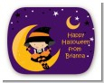 Dress Up Witch Costume - Personalized Halloween Rounded Corner Stickers thumbnail
