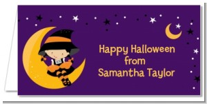 Dress Up Witch Costume - Personalized Halloween Place Cards