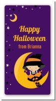 Dress Up Witch Costume - Custom Rectangle Halloween Sticker/Labels