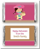 Dress Up Cowgirl Costume - Personalized Halloween Mini Candy Bar Wrappers