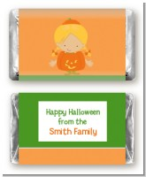 Dress Up Pumpkin Costume - Personalized Halloween Mini Candy Bar Wrappers