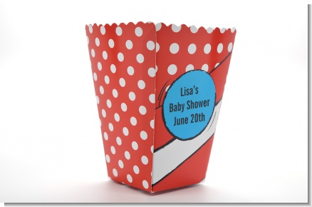 Dr. Seuss Inspired - Personalized Baby Shower Popcorn Boxes