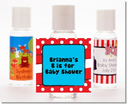 Dr. Seuss Inspired - Personalized Baby Shower Hand Sanitizers Favors