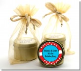 Dr. Seuss Inspired Thing 1 Thing 2 - Birthday Party Gold Tin Candle Favors