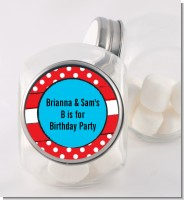 Dr. Seuss Inspired Thing 1 Thing 2 - Personalized Birthday Party Candy Jar