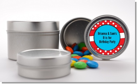 Dr. Seuss Inspired Thing 1 Thing 2 - Custom Birthday Party Favor Tins