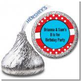 Dr. Seuss Inspired Thing 1 Thing 2 - Hershey Kiss Birthday Party Sticker Labels