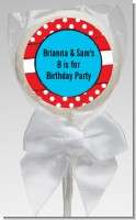 Dr. Seuss Inspired Thing 1 Thing 2 - Personalized Birthday Party Lollipop Favors