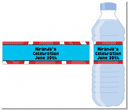Dr. Seuss Inspired - Personalized Baby Shower Water Bottle Labels