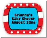 Dr. Seuss Inspired - Personalized Baby Shower Rounded Corner Stickers