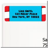 Dr. Seuss Inspired - Baby Shower Return Address Labels