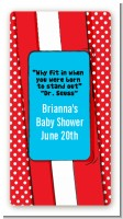 Dr. Seuss Inspired - Custom Rectangle Baby Shower Sticker/Labels