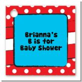 Dr. Seuss Inspired - Personalized Baby Shower Card Stock Favor Tags