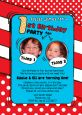 Dr. Seuss Inspired Thing 1 Thing 2 - Birthday Party Photo Invitations thumbnail