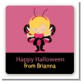 Dress Up Butterfly Costume - Square Personalized Halloween Sticker Labels thumbnail