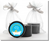 Duck - Baby Shower Black Candle Tin Favors