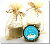 Duck - Baby Shower Gold Tin Candle Favors