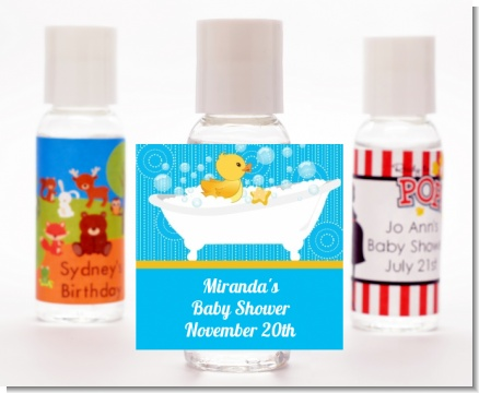 Duck - Personalized Baby Shower Hand Sanitizers Favors