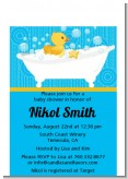 Duck - Baby Shower Petite Invitations