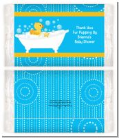 Duck - Personalized Popcorn Wrapper Baby Shower Favors